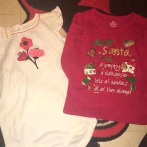 Lot of 2 onesie and shirt